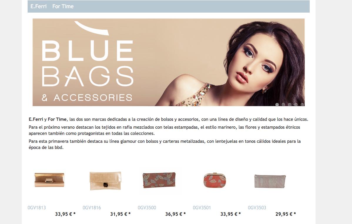 tienda online bluebags