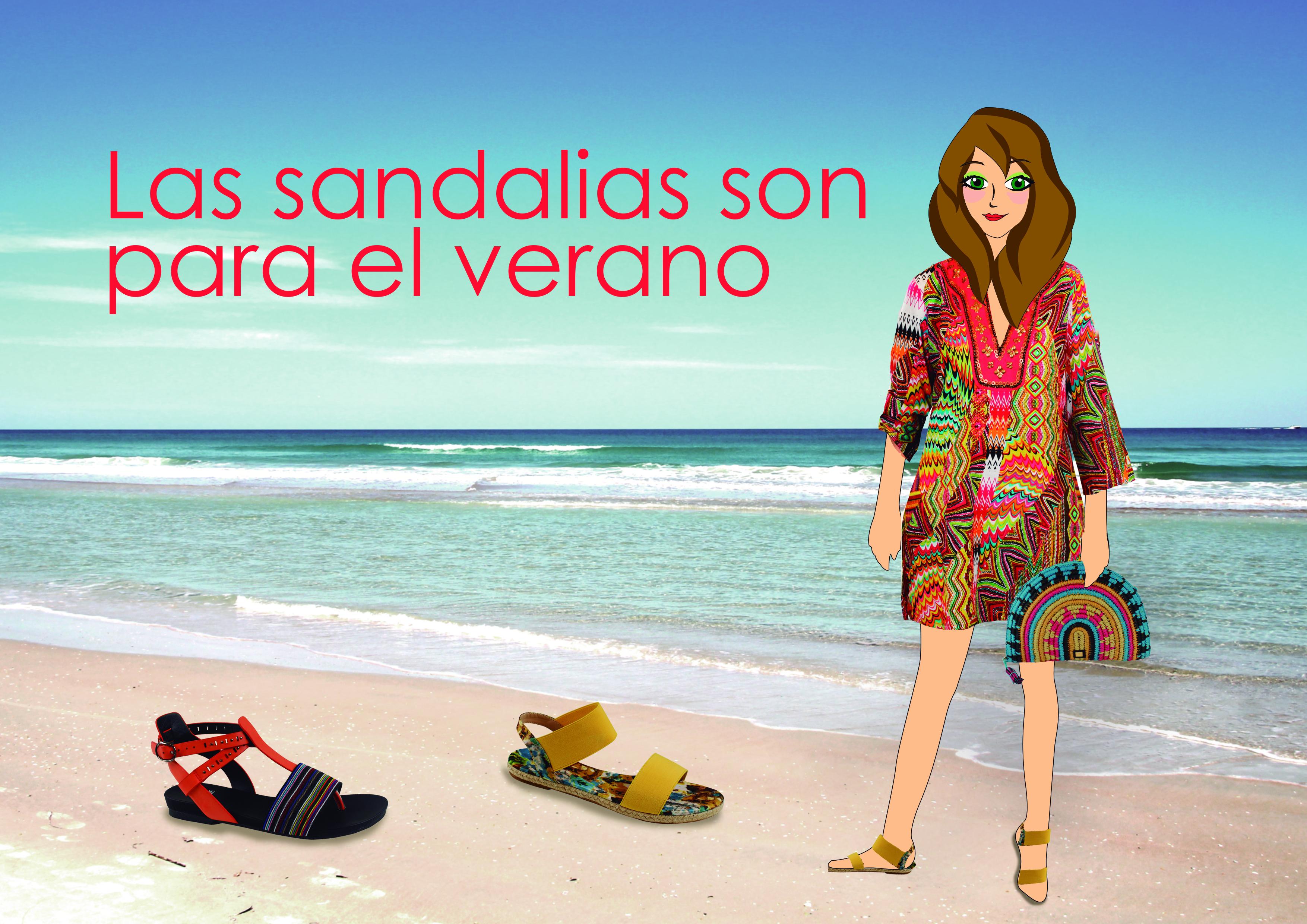 Las sandalias son para el verano
