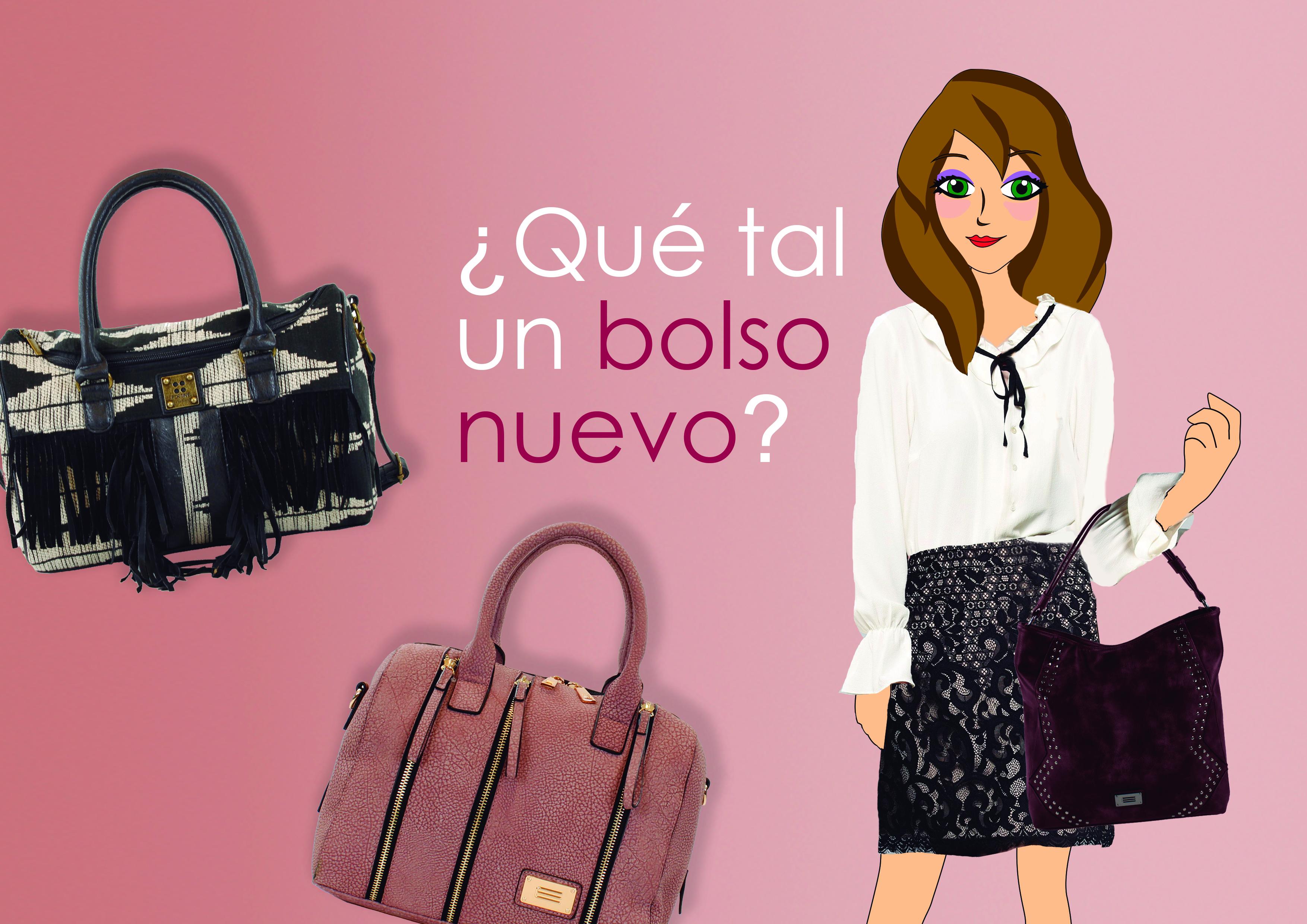 Violeta Valiente con prendas y bolsos de la nueva colección otoño-invierno de E.Ferri y For Time