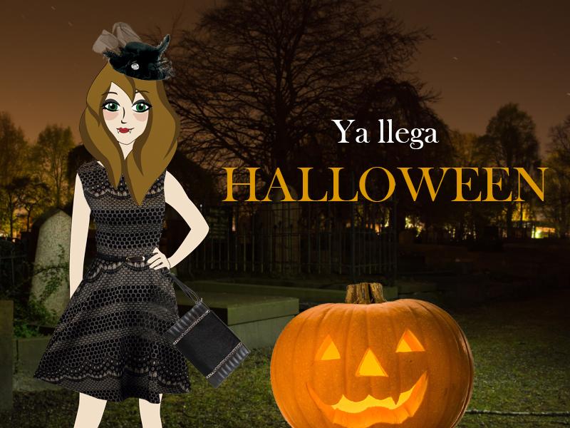 Violeta Valiente con disfraz en Halloween