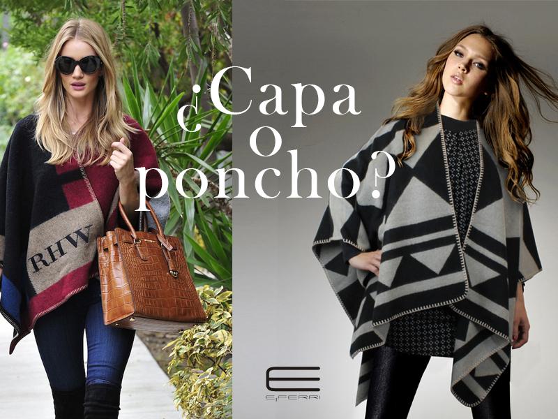 La modelo Rosie Huntington-Whitley y modelo de E.Ferri con capas y ponchos