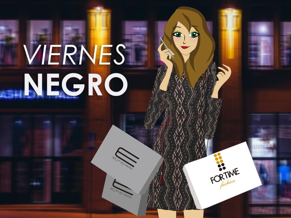 Violeta Valiente de shopping en el Black Friday