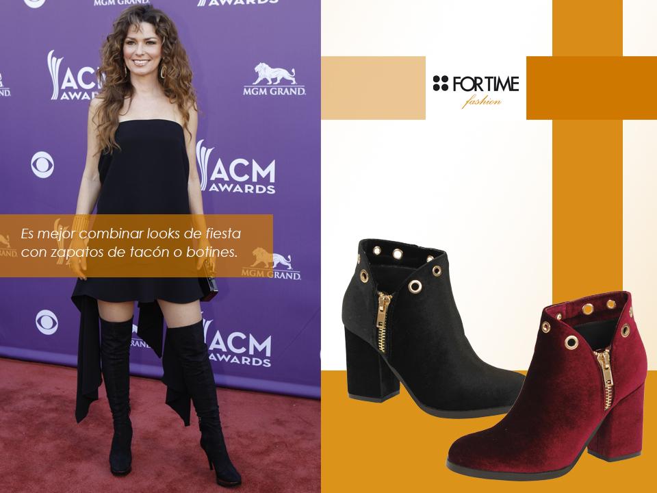Shania Twain con botas altas y botines de FOR TIME