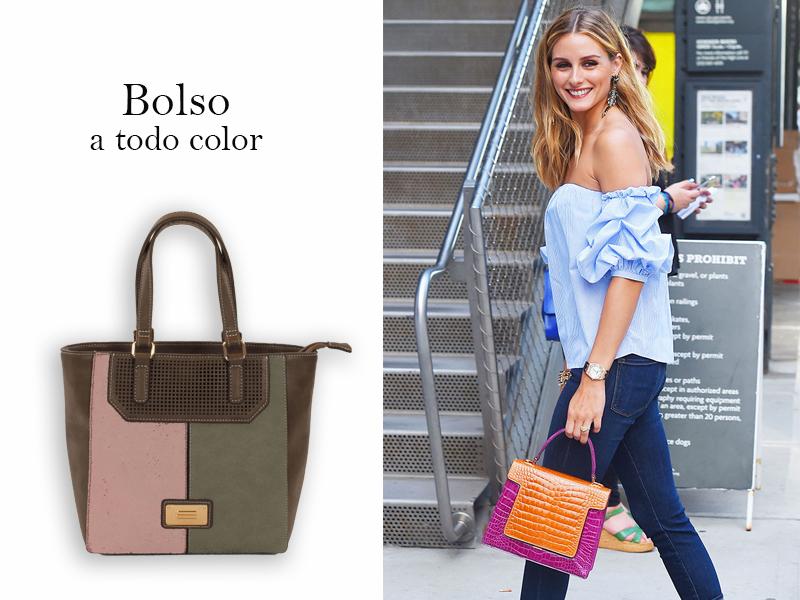 Streetstyle de Olivia Palermo con bolso de color