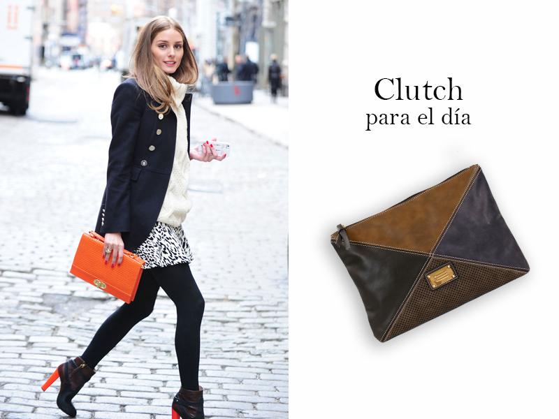 Streetstyle de Olivia Palermo con bolso clutch