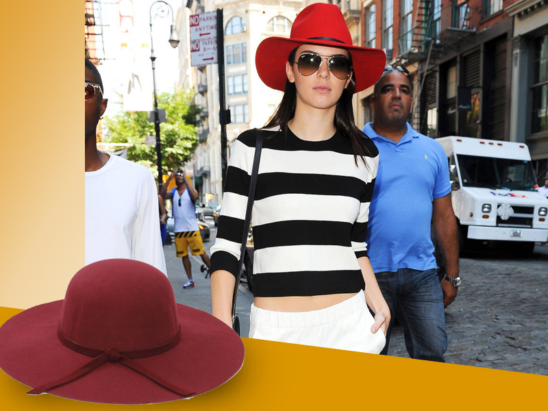 Kendall Jenner con sombrero
