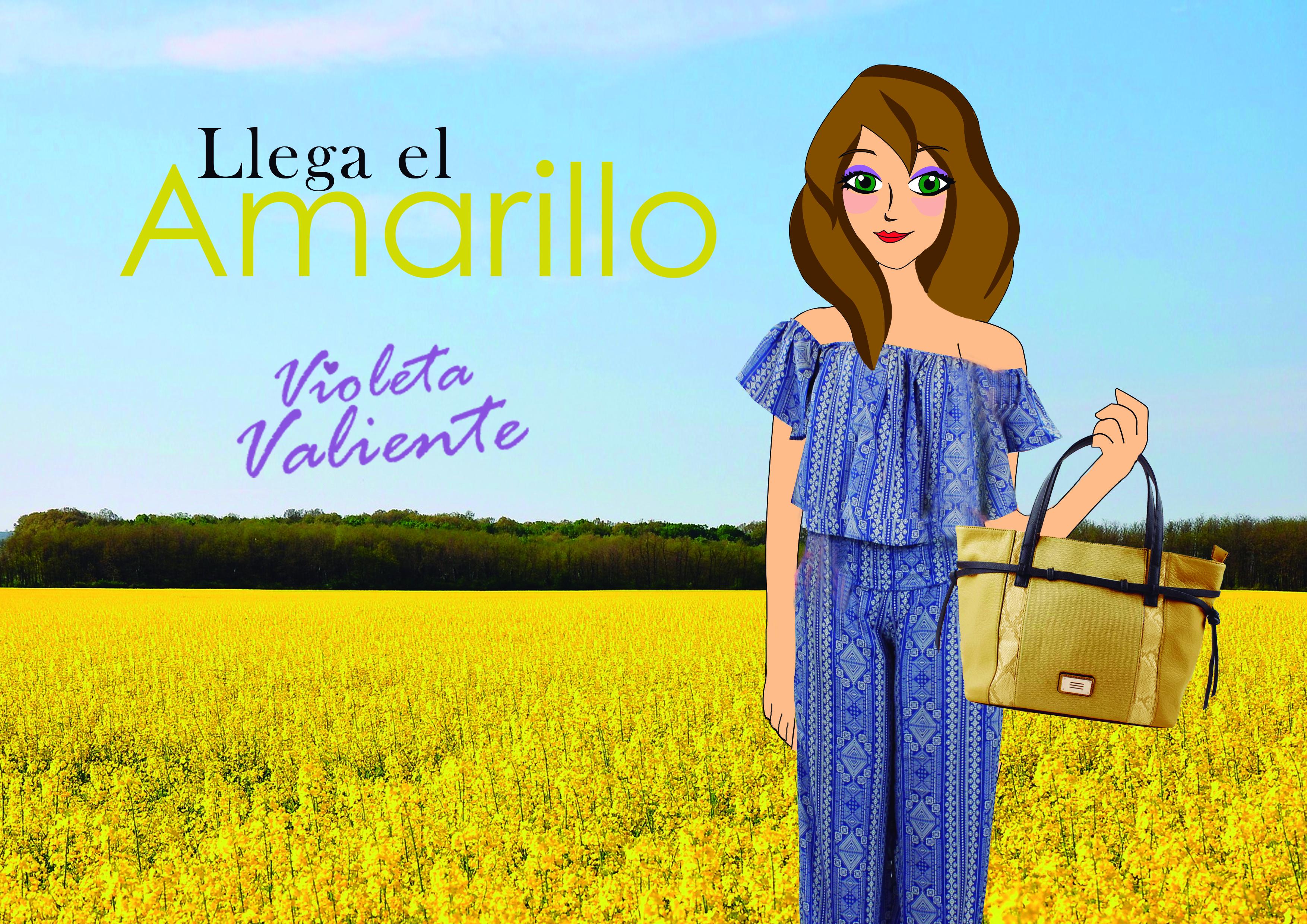La fashionblogger Violeta Valiente con ropa de FOR TIME y bolso de E.Ferri