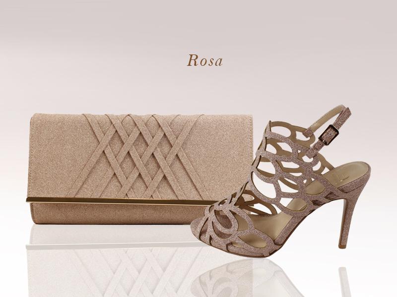 Zapatos y bolso de la colección Glamour de E.Ferri