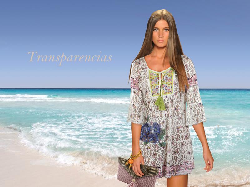Kaftán y bolso de la colección primavera verano de E.Ferri