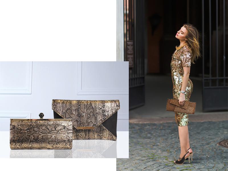 Bolso y zapato de la colección Glamour de E.Ferri