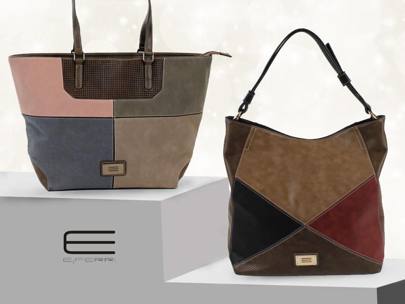 Bolsos con detalles de colores de E.Ferri