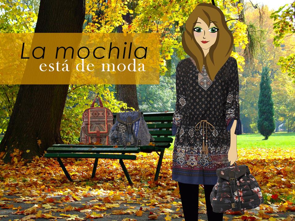 La fashionbloggerVioleta Valiente con mochila de FOR TIME