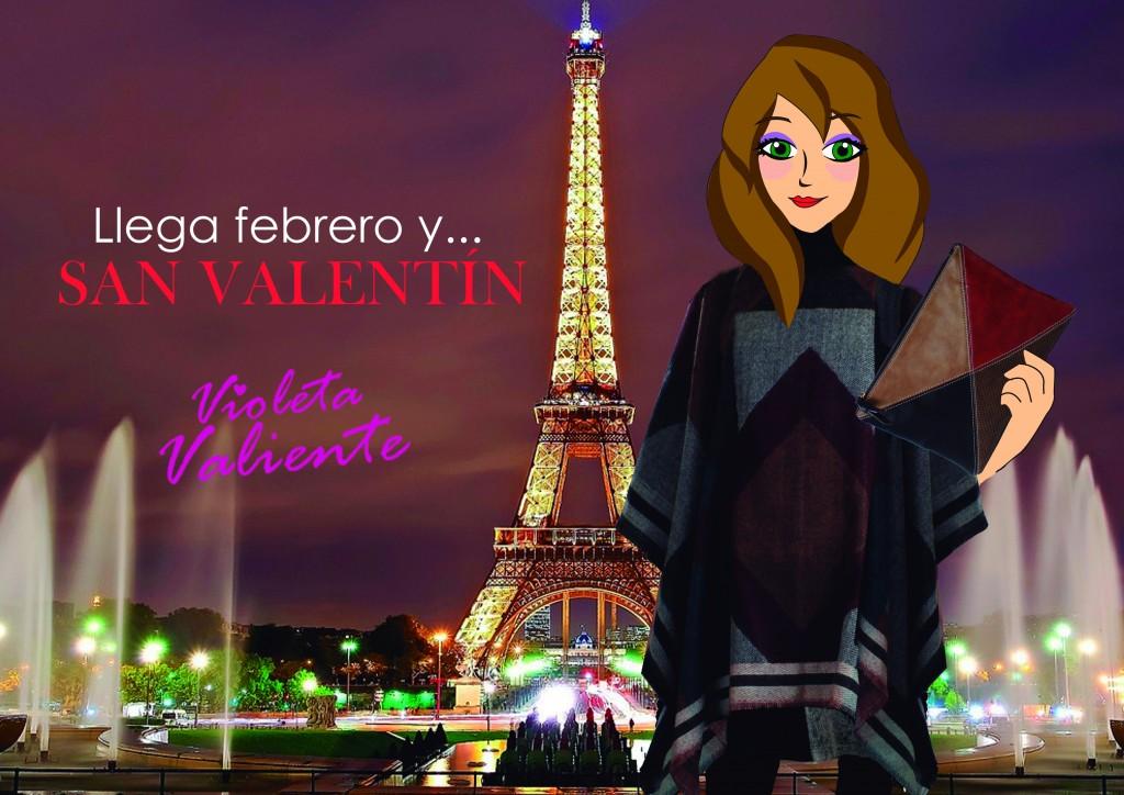 la fashion blogger Violeta Valiente celebra San Valentín en París