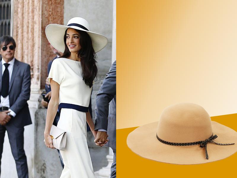 Amal Clooney con sombrero