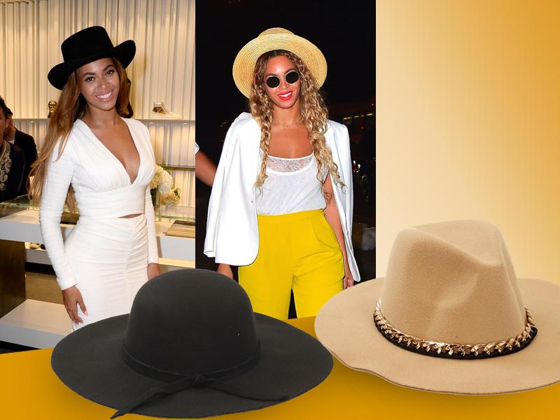 Beyoncé con sombrero