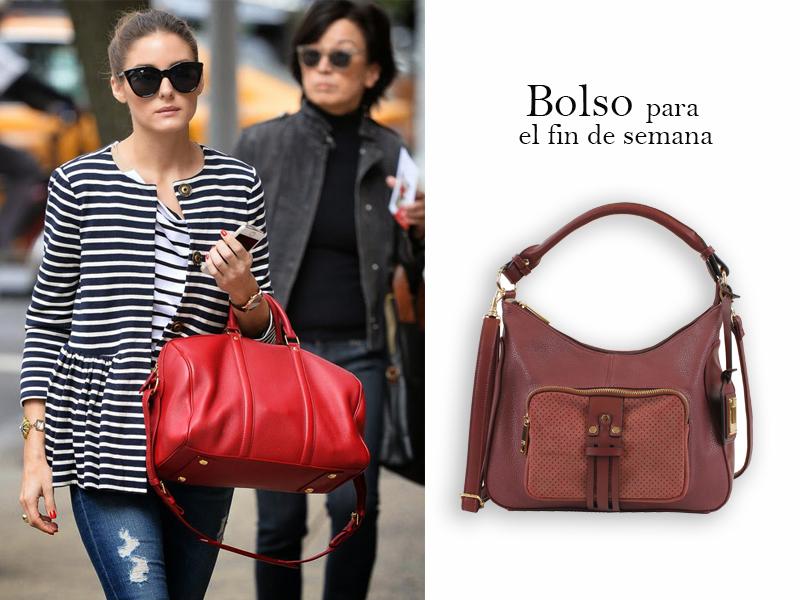 Streetstyle de Olivia Palermo con bolso rojo