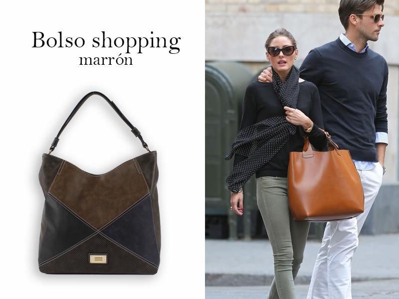 Streetstyle de Olivia Palermo con bolso shopping marrón
