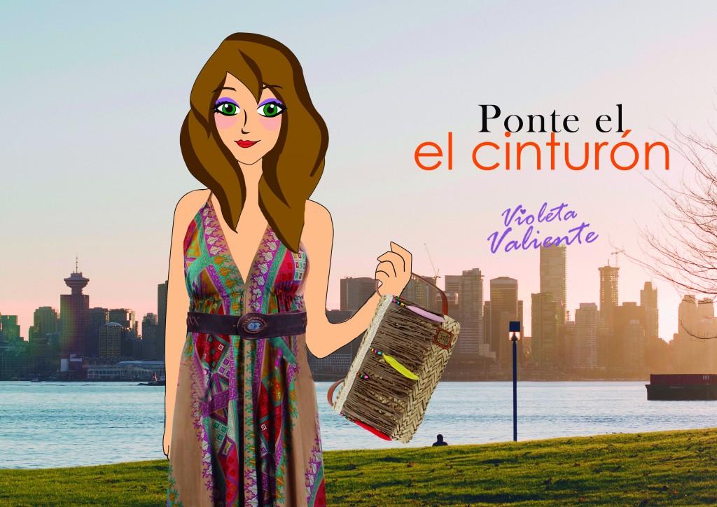 La fashion blogger Violeta Valiente con vestido y bolso de la nueva colección de FOR TIME