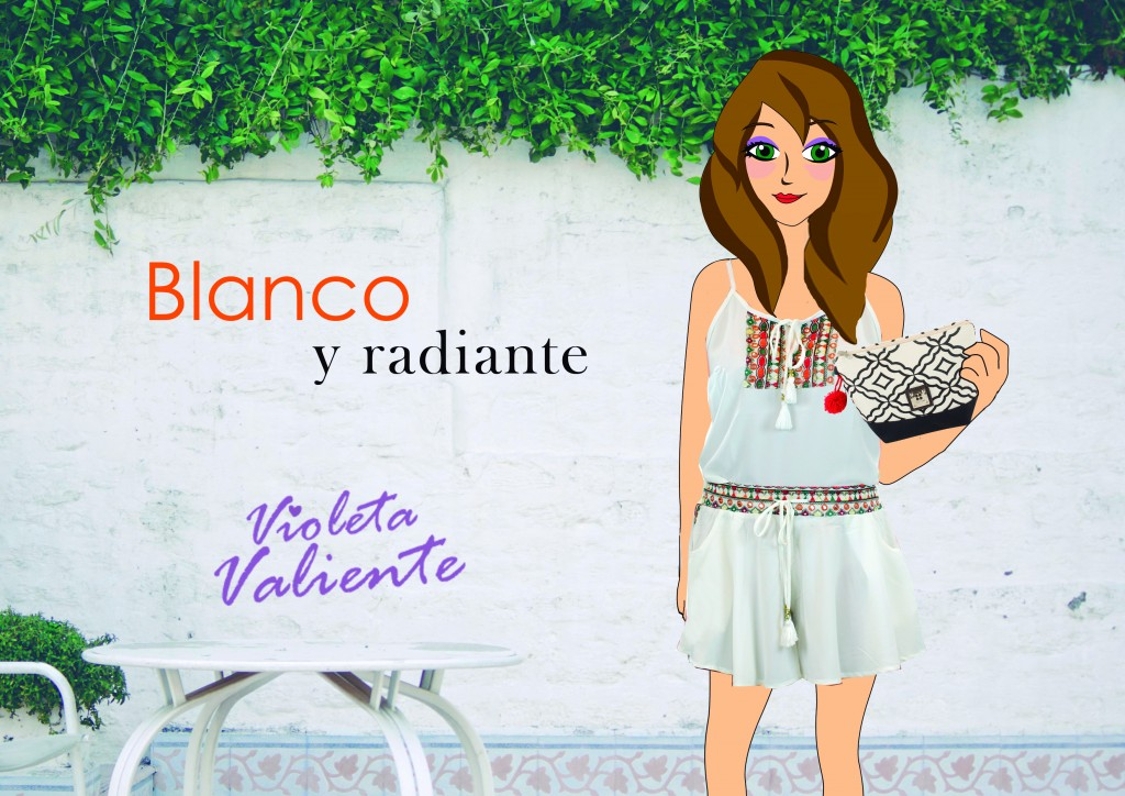 La fashion blogger Violeta Valiente con bolso y ropa de FOR TIME
