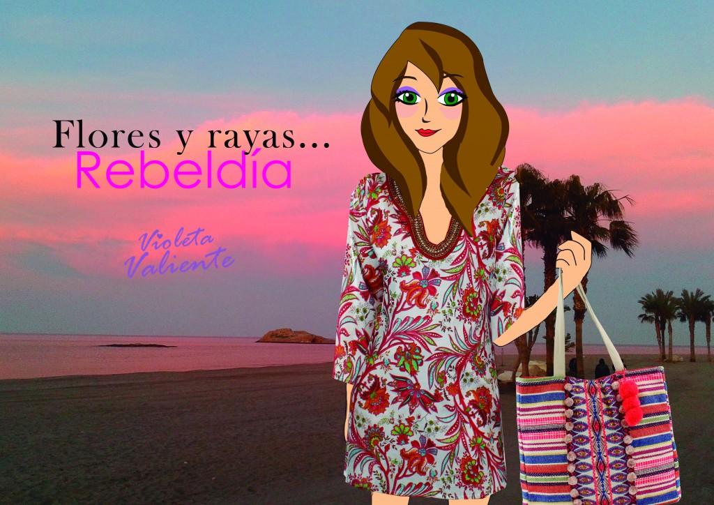 La fashionblogger Violeta Valiente con kaftán y bolso de E.Ferri