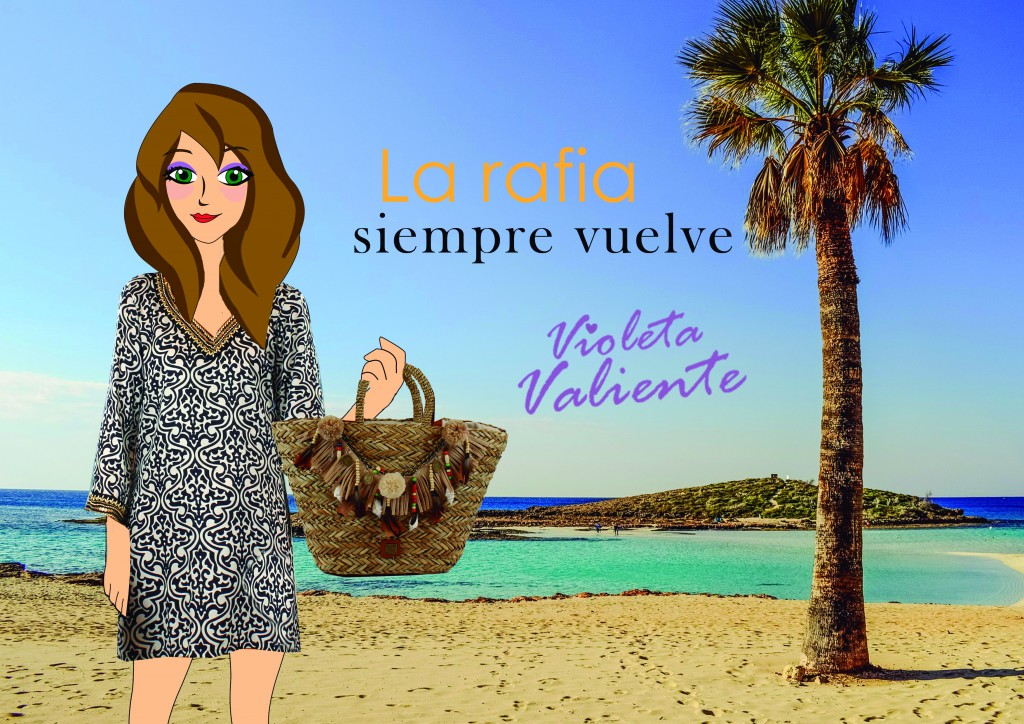 La fashionblogger Violeta Valiente con kaftán y capazo de FOR TIME