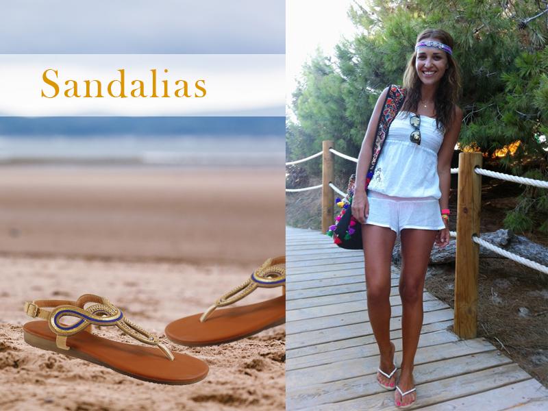 Paula Echevarría y sandalias de FOR TIME