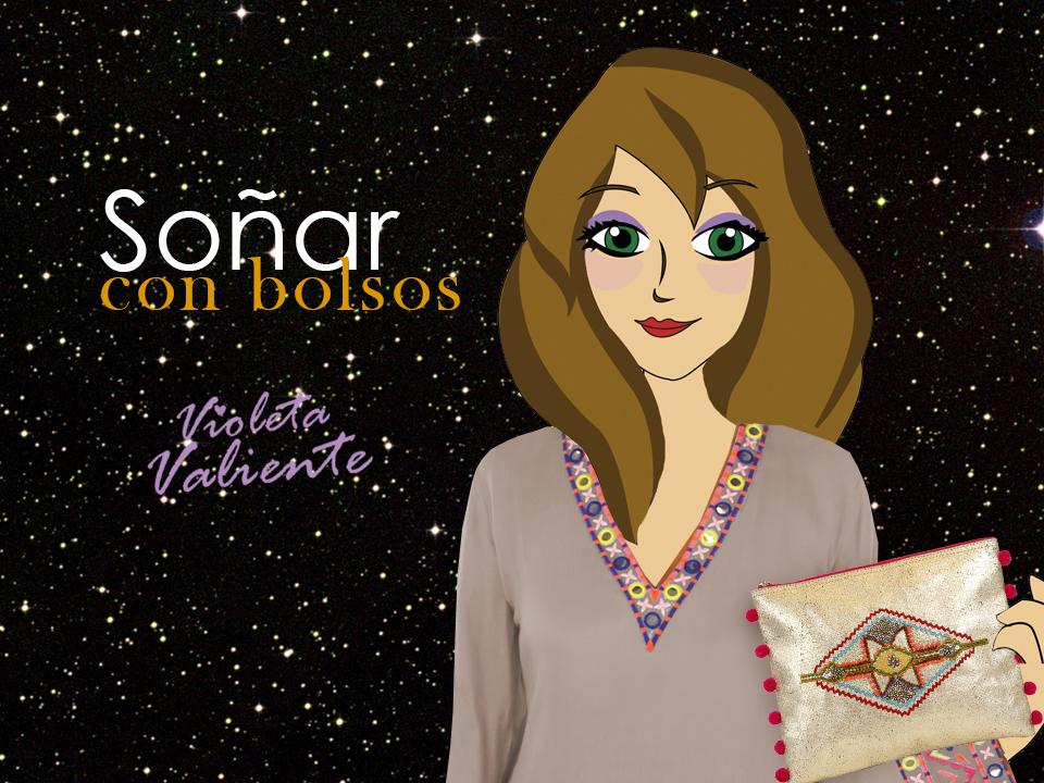 La fashion blogger Violeta Valiente con bolso de FOR TIME